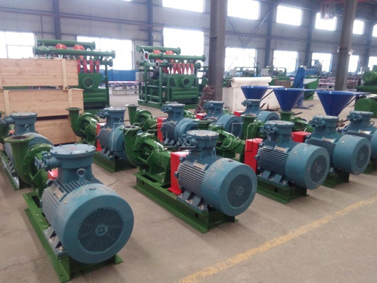 KOSUN Centrifugal Pumps and Jet Mixing Hoppers Ready for Delivery