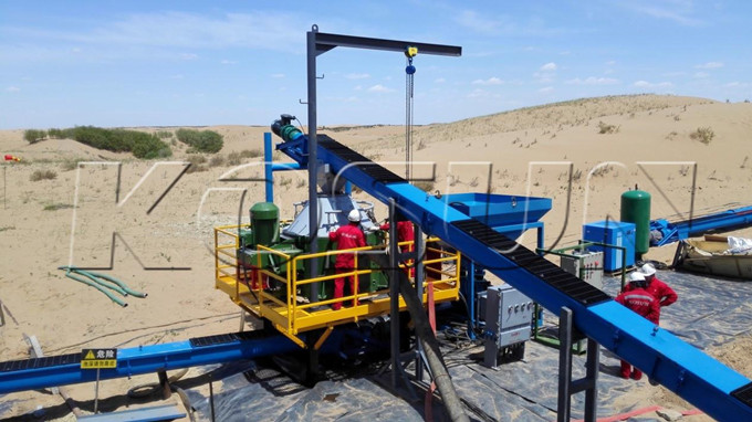 KOSUN Drilling Waste Zero Discharge System in Service in Inner Mongolia 1