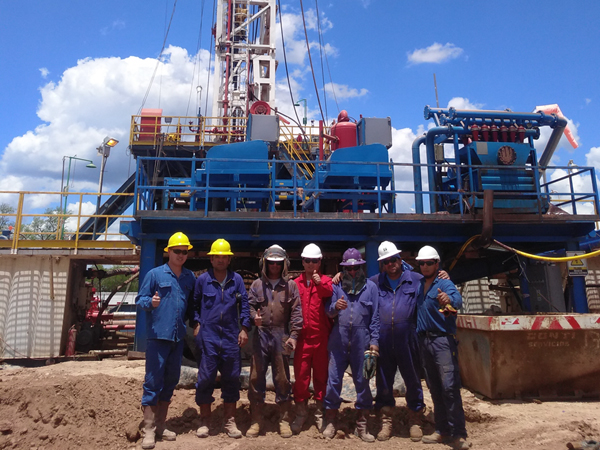 KOSUN solids control equipment and drilling waste management equipment at a oil exploitation project